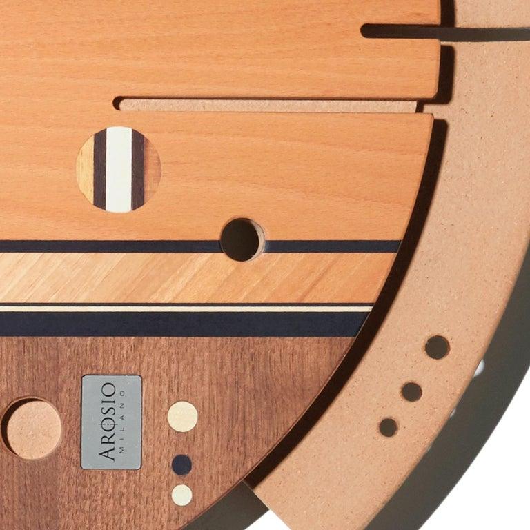 Contemporary Samada Natural Clock by Arosio Milano For Sale