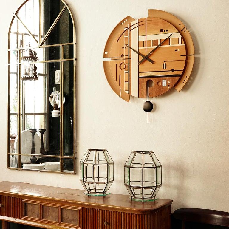 Metal Samada Natural Clock by Arosio Milano For Sale
