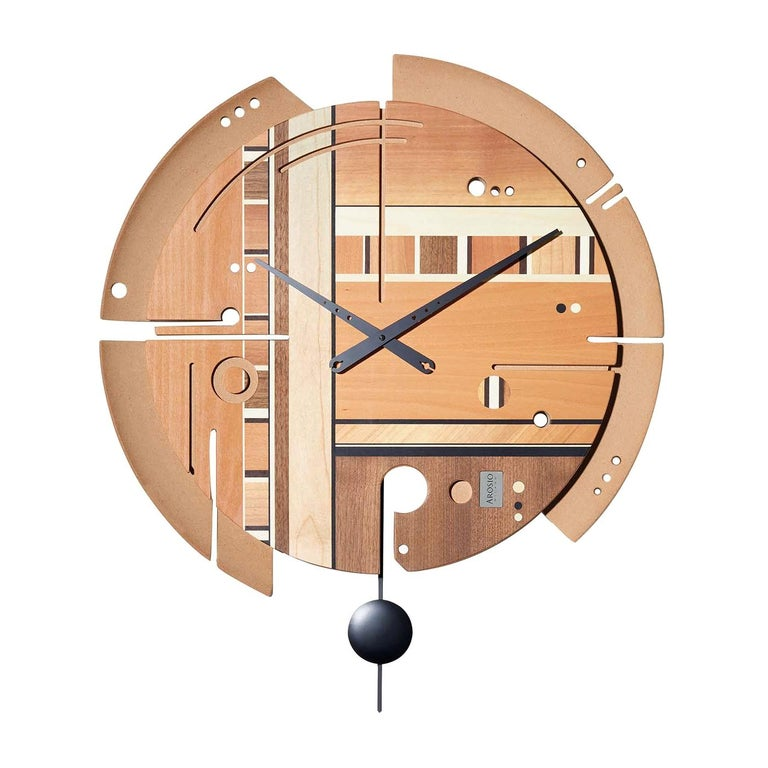 Samada Natural Clock by Arosio Milano For Sale