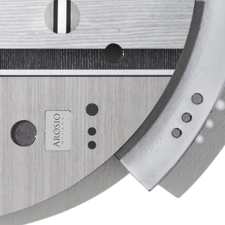 Samada Silver Special Edition Clock by Arosio Milano In New Condition For Sale In Milan, IT