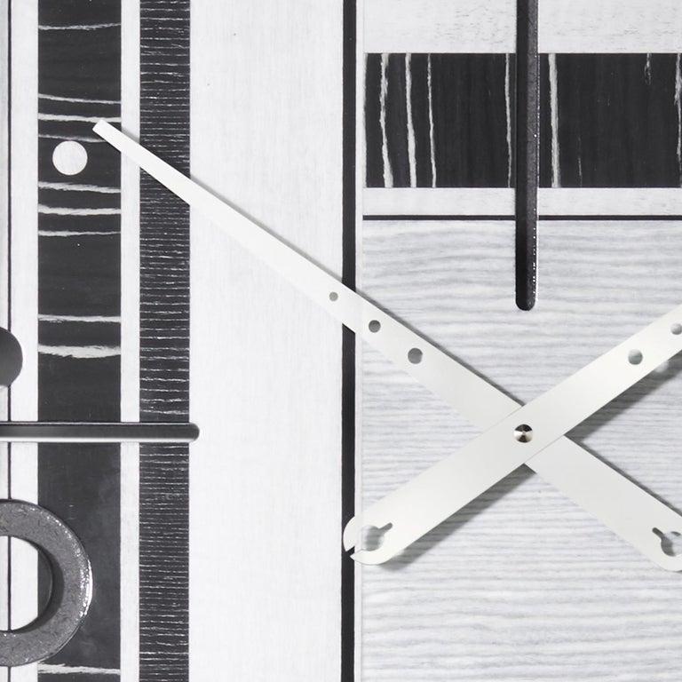 Contemporary Samada Silver Special Edition Clock by Arosio Milano For Sale