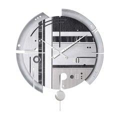 Samada Silver Special Edition Clock by Arosio Milano