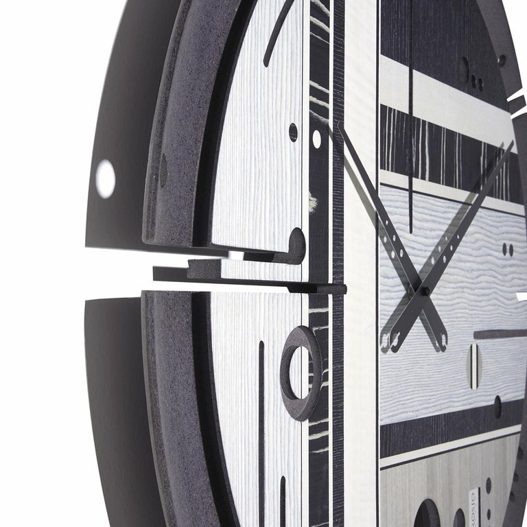 Italian Samada Tech Clock by Arosio Milano For Sale