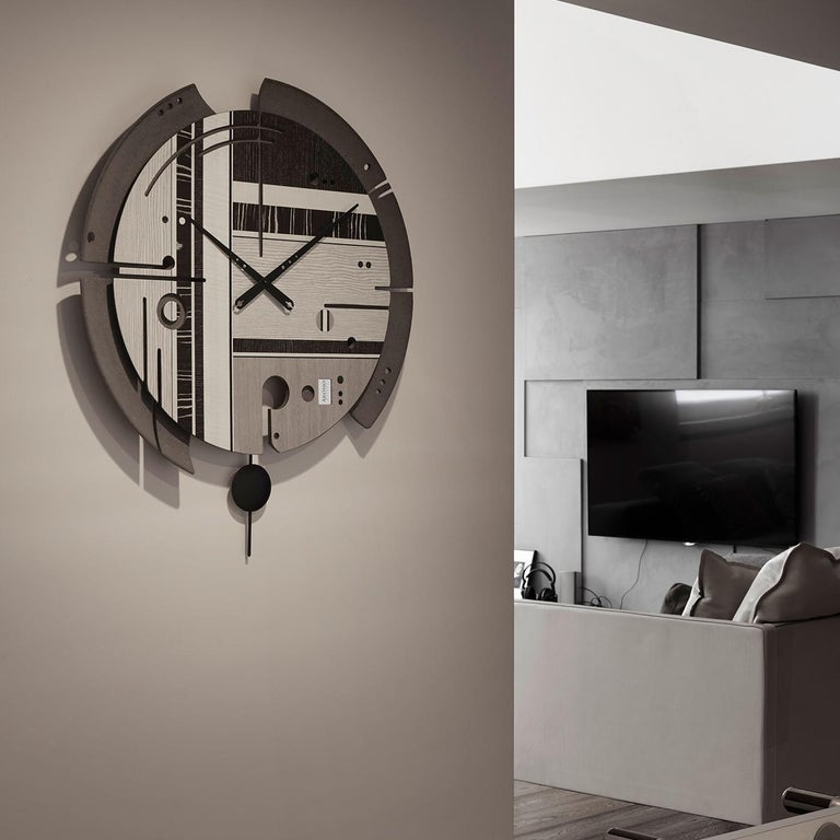 Contemporary Samada Tech Clock by Arosio Milano For Sale