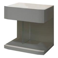 Samar Nightstand, Bedside Table, Designed by Pierangelo Sciuto, Made in Italy