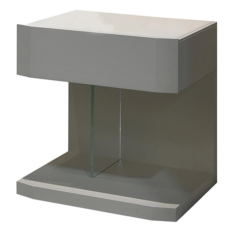 Samar nightstand bedside table, designed by Pierangelo Sciuto For Sale