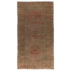 Samarkand Midcentury Brown Handwoven Wool Rug