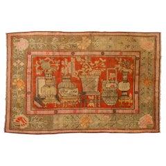 Samarkanda Khotan Old Carpet or Rug