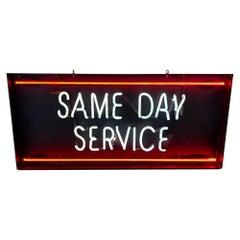 Same Day Service Neon Sign