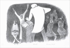 SHOUT Hand Drawn Lithograph, Church Shout, African American Heritage