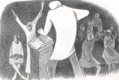 Shout, Hand Drawn Lithograph, Church Shout, Praise Break