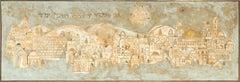Panorama of Jerusalem, Large Painting by Sami Briss