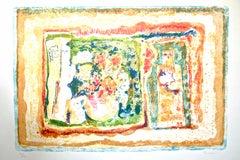 Nude Flowers and Gods - Original Litograph by Sami Burhan - 1970s