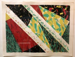 Position Interplay Arab Modernist Abstract Silkscreen