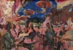 Aux Folies - 21st Century Contemporary Paris Night Cafe Oil Painting