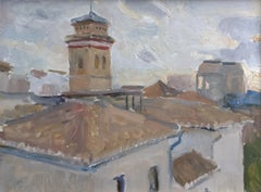 Rooftops in Granada - 21st Century Contemporary Spain Urban Oil Painting
