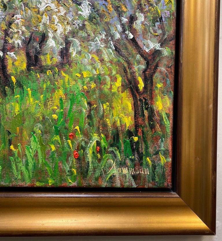 Pommiers en Fleurs St. Hilaire, original 24x30 French Impressionist landscape For Sale 1