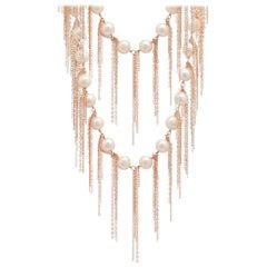 Samira 13 Freshwater Pearl Fringe Layered Necklace