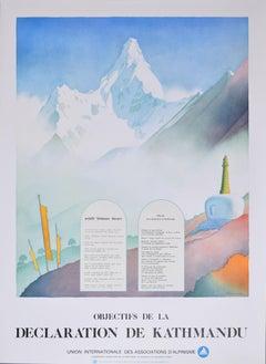Samivel Objectives of the Kathmandu Declaration Original Poster de Himalayas