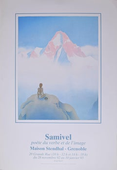 Samivel - Original Exhibition Poster for 'At The True Summit' Grenoble (1992)