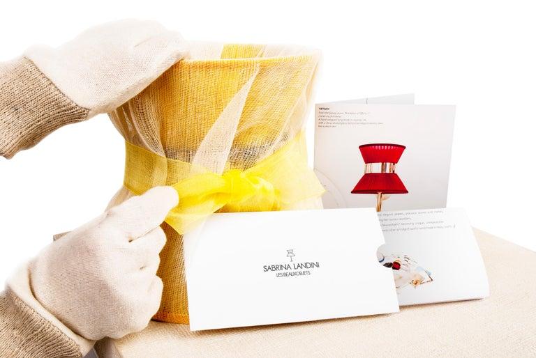 Sabrina Landini sample Hat-box  In New Condition For Sale In Pietrasanta, IT