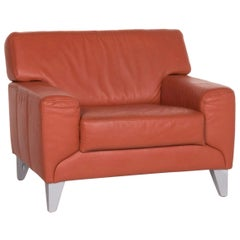 Sample Ring Leather Armchair Terracotta