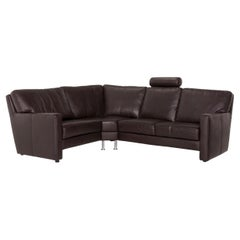 Sample Ring Leather Corner Sofa Brown Dark Brown Sofa Couch