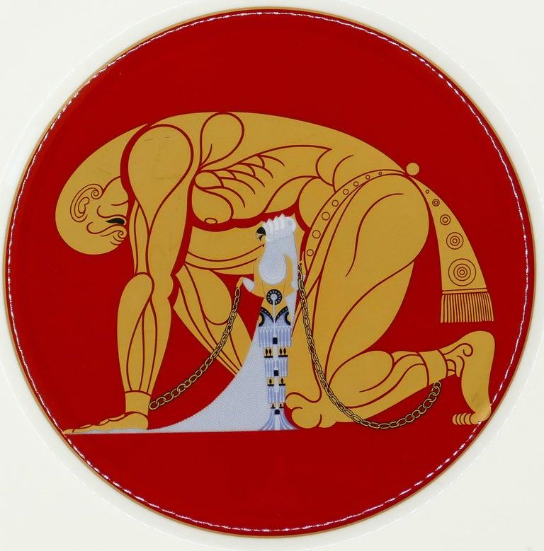 Japanese Samson and Delilah Plate, Erté 'after', 1987 For Sale