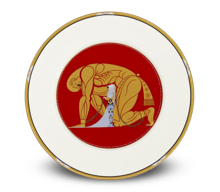 Late 20th Century Samson and Delilah Plate, Erté 'after', 1987 For Sale