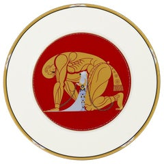 Samson and Delilah Plate, Erté 'after', 1987