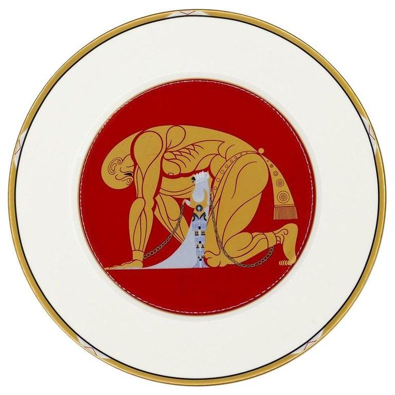 Samson and Delilah Plate, Erté 'after', 1987 For Sale