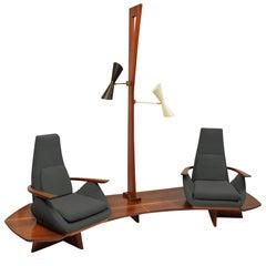 Samson Berman, New York unique Monumental tandem platform seating suite