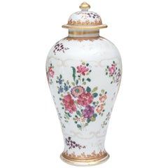 Samson Floral Decorated Lidded Porcelain Vase
