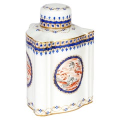 Samson French Porcelain Chinese Style Triangular Lidded Teacaddy