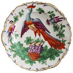 Samson Paris Chelsea Style Exotic Birds Painted Cabinet Plate