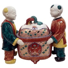 Samson Porcelain Chinoiserie Incense Burner