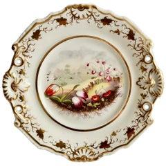 Samuel Alcock Porcelain Plate with Flowers, Provenance Godden Regency circa 1820