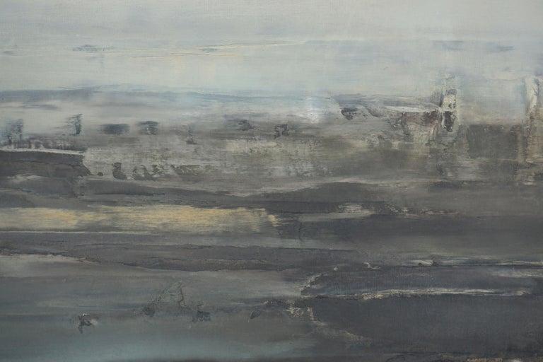 Mid Century Roman Landscape - Vista Sull Altra Riva  - Abstract Impressionist Painting by Samuel Bak