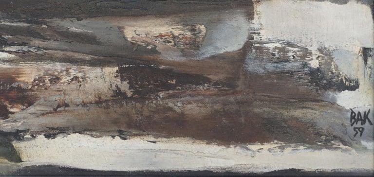 Mid Century Roman Landscape - Vista Sull Altra Riva  - Gray Landscape Painting by Samuel Bak
