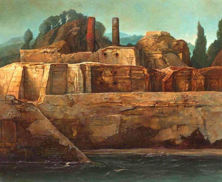 Surrealistic Landscape - Painting by Samuel Bak