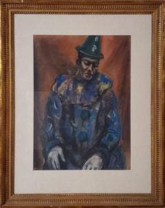 Pastel Portrait of a Circus Clown