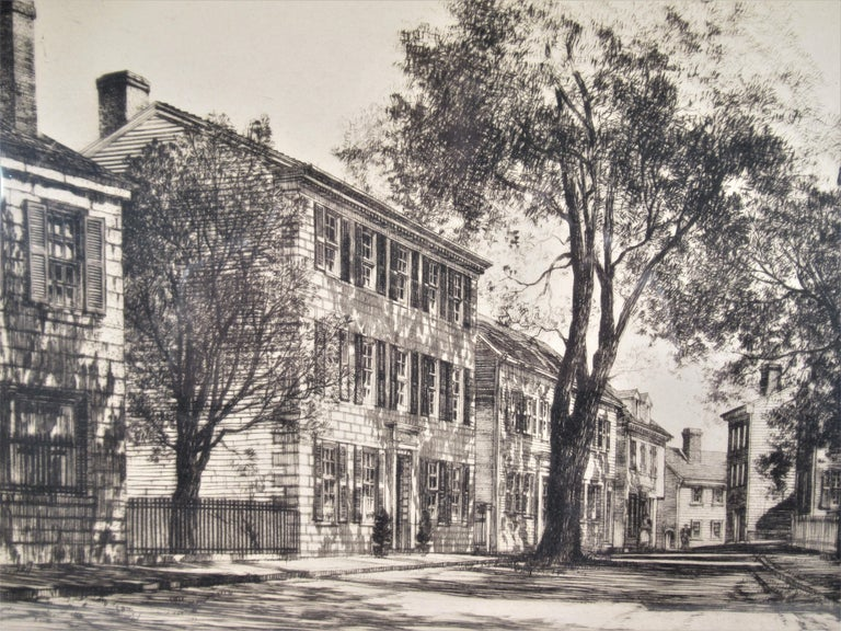 Street Scene - Realist Print by Samuel Chamberlain