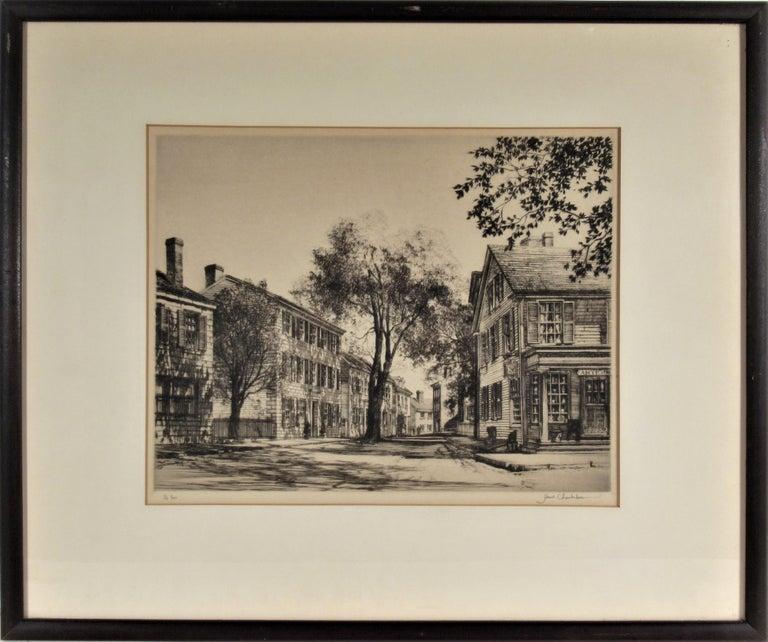 Samuel Chamberlain Figurative Print - Street Scene