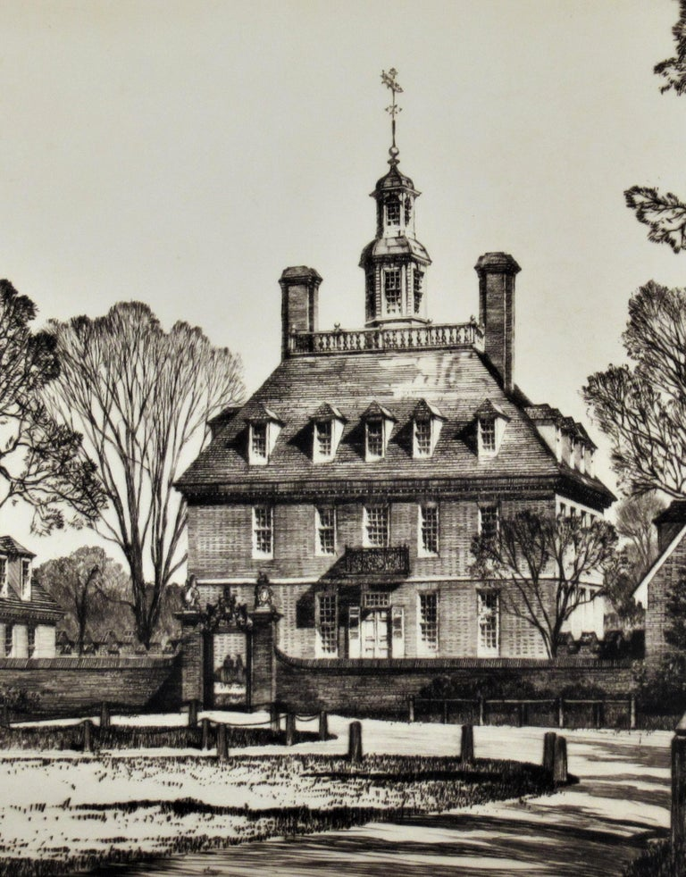 The Governor Palace, Williamsburg Serie - Print by Samuel Chamberlain