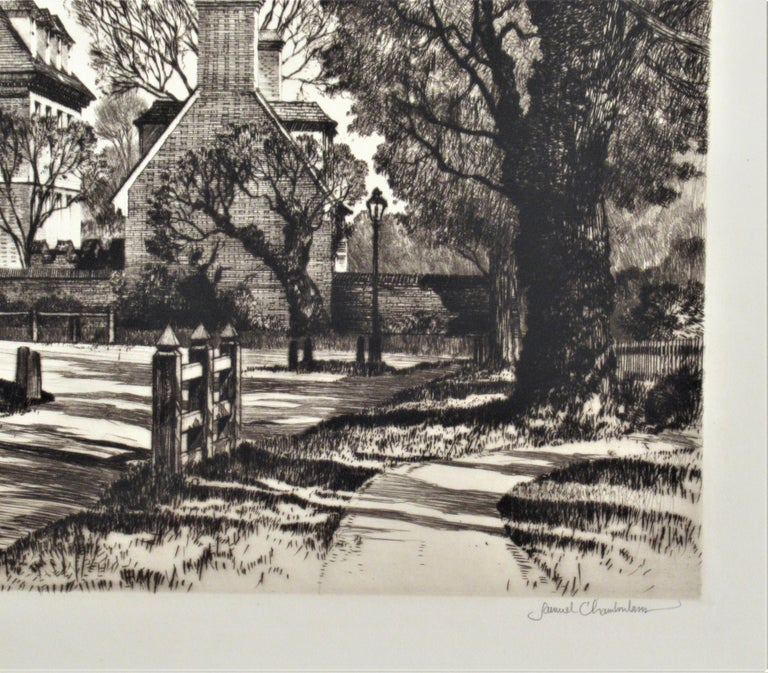The Governor Palace, Williamsburg Serie - Realist Print by Samuel Chamberlain