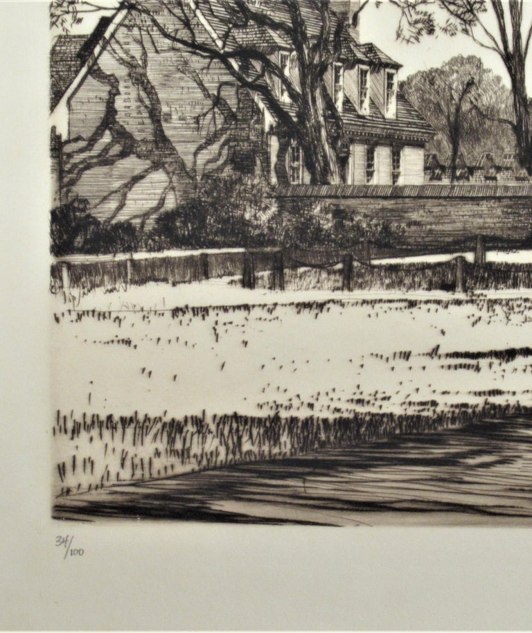 The Governor Palace, Williamsburg Serie - Gray Figurative Print by Samuel Chamberlain
