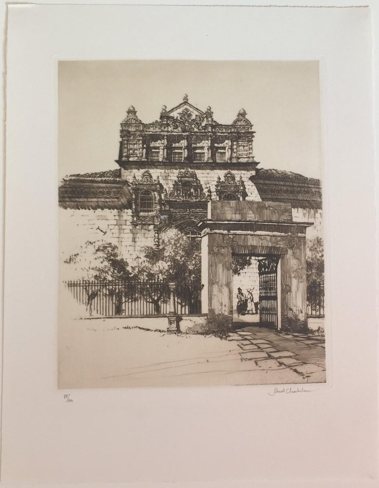 The Hospital, Santa Cruz, Toledo. - Print by Samuel Chamberlain