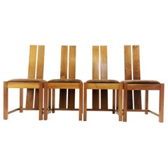 Samuel Chan Alba for Channels of Chelsea Walnut Dining Chairs