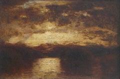 Lake George, New York, seascape by Samuel Colman (American, 1832-1920)