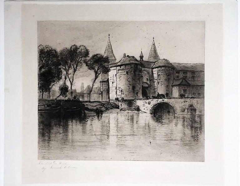 [Le Pont de Gand, Bruges.] - Print by Samuel Colman